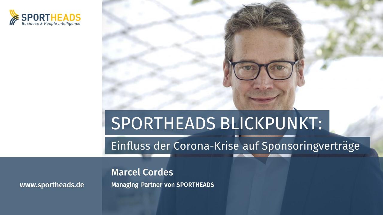 SPORTHEADS Blickpunkt: Einfluss der Corona-Krise auf Sponsoringverträge