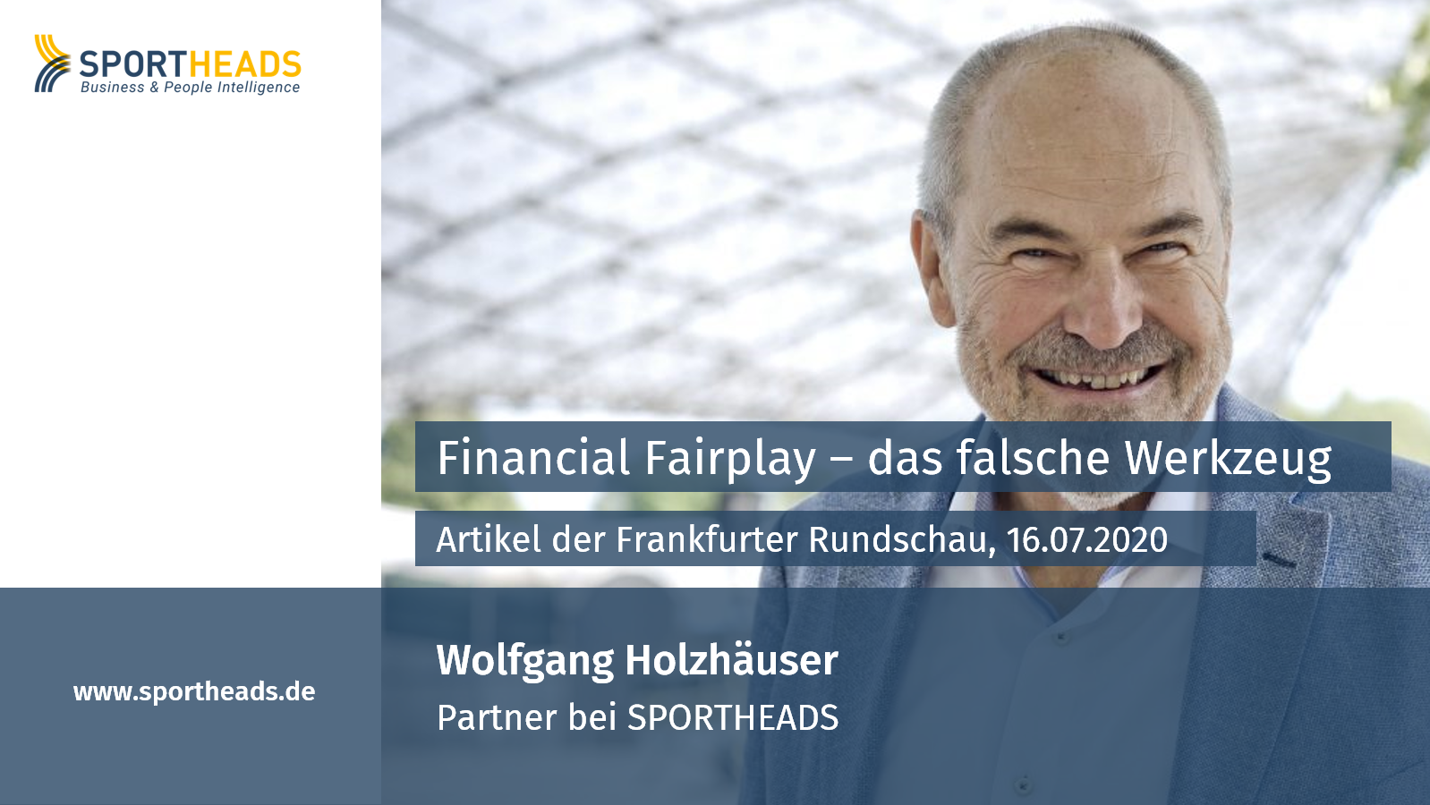 """Financial Fairplay: """"Das falsche Werkzeug"""" – ein Artikel mit Wolfgang Holzhäuser"""