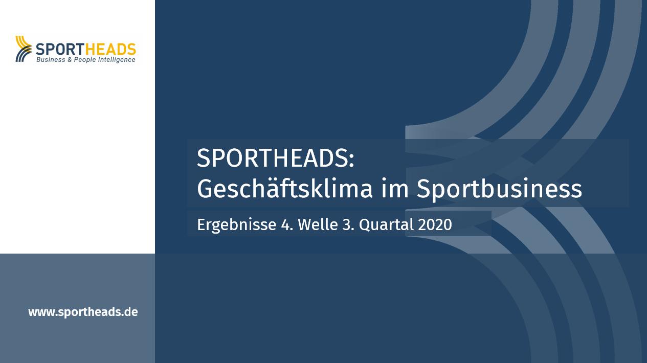 Geschäftsklima Sportbusiness: Ergebnisse 4. Welle 3. Quartal 2020