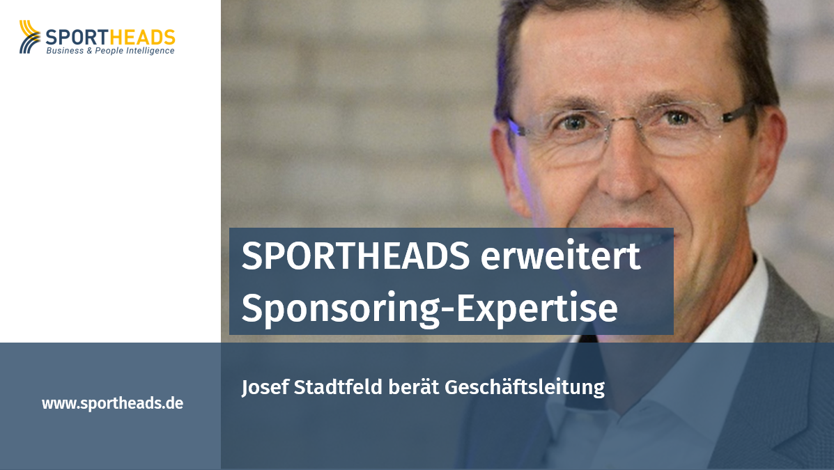 SPORTHEADS erweitert Sponsoring-Expertise