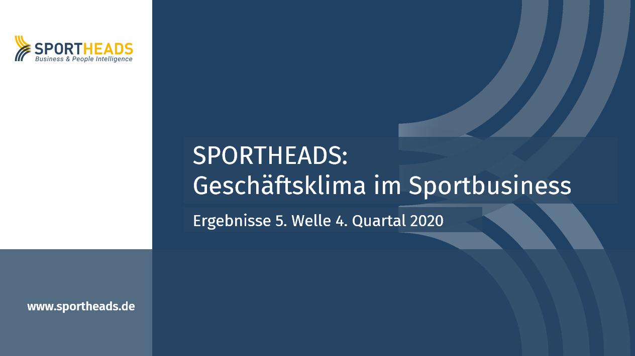 Geschäftsklima im Sportbusiness: Ergebnisse 5. Welle 4. Quartal 2020