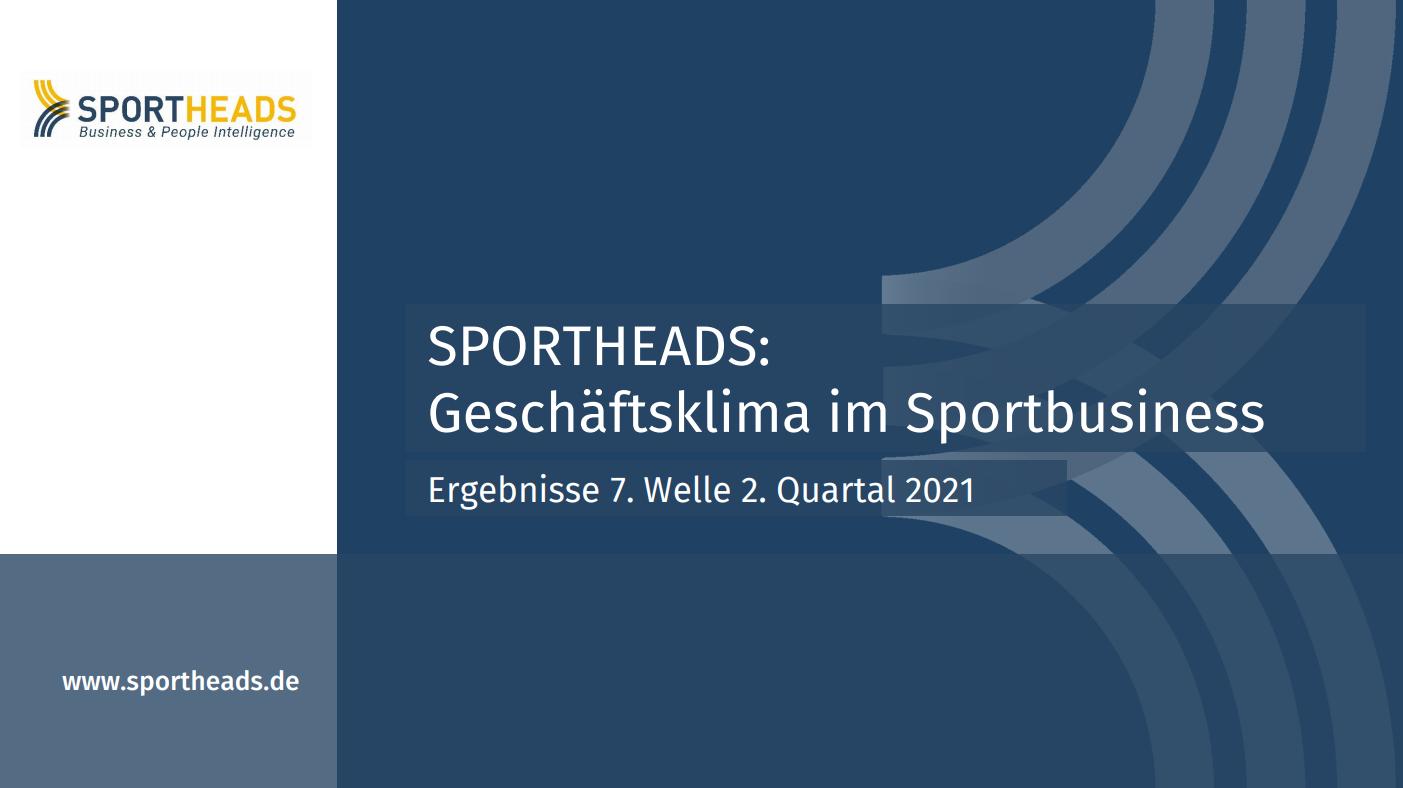 Geschäftsklima im Sportbusiness: Ergebnisse 7. Welle 2. Quartal 2021
